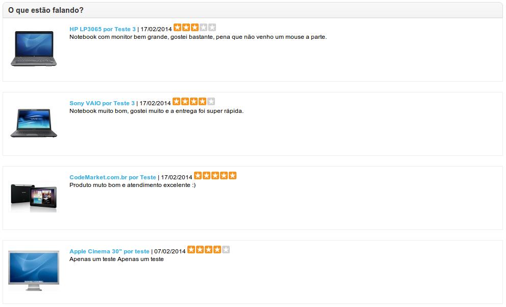 Comentários (Reviews) Produtos em qualquer página - Foto 2