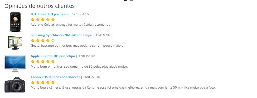 Comentários (Reviews) Produtos em qualquer página - Foto 4
