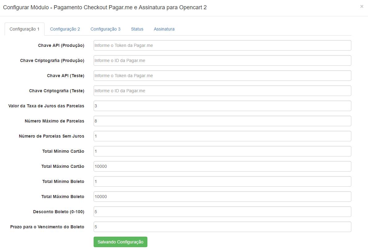 Pagamento Checkout Pagar.me e Assinatura para Opencart 2 - Foto 2