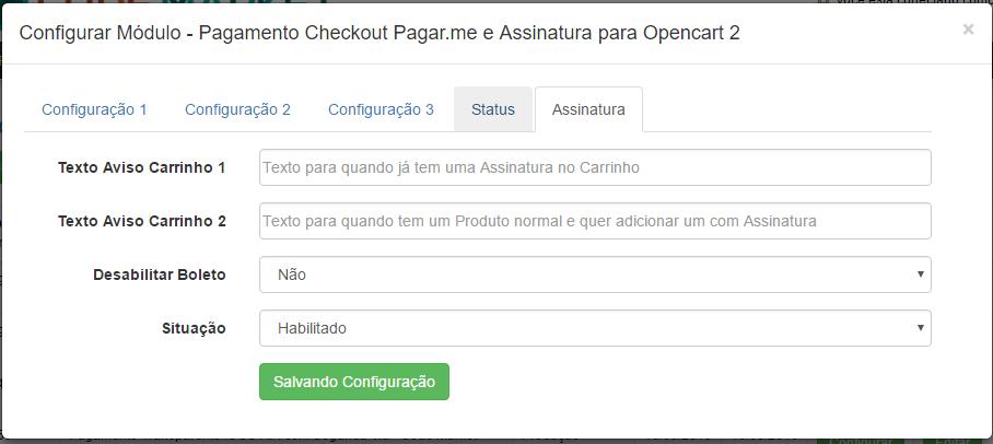 Pagamento Checkout Pagar.me e Assinatura para Opencart 2 - Foto 3