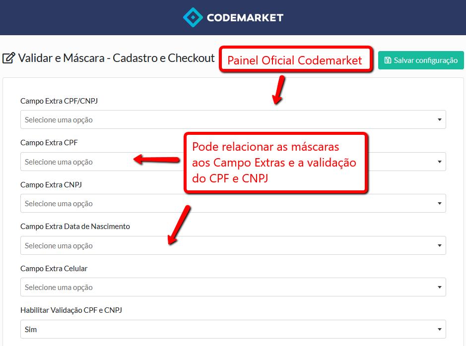Validar e Máscara (CEP, CPF, CNPJ, Telefone...) - Cadastro e Checkout Opencart - Foto 2