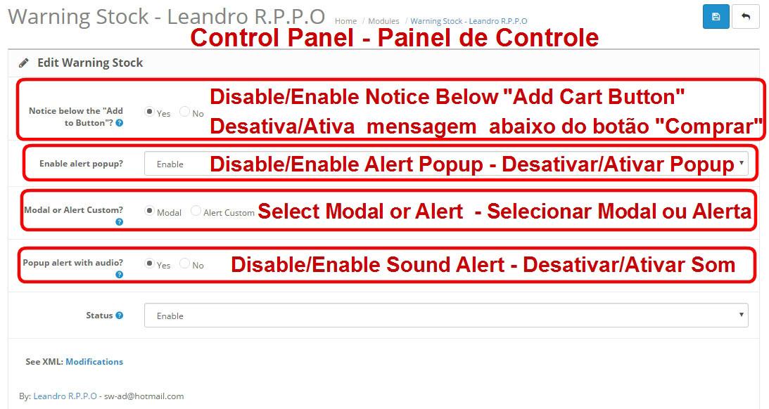 Aviso de Estoque Disponível - Modal ou Alerta Personalizado - com Opção de Som nos Alertas. - Foto 7