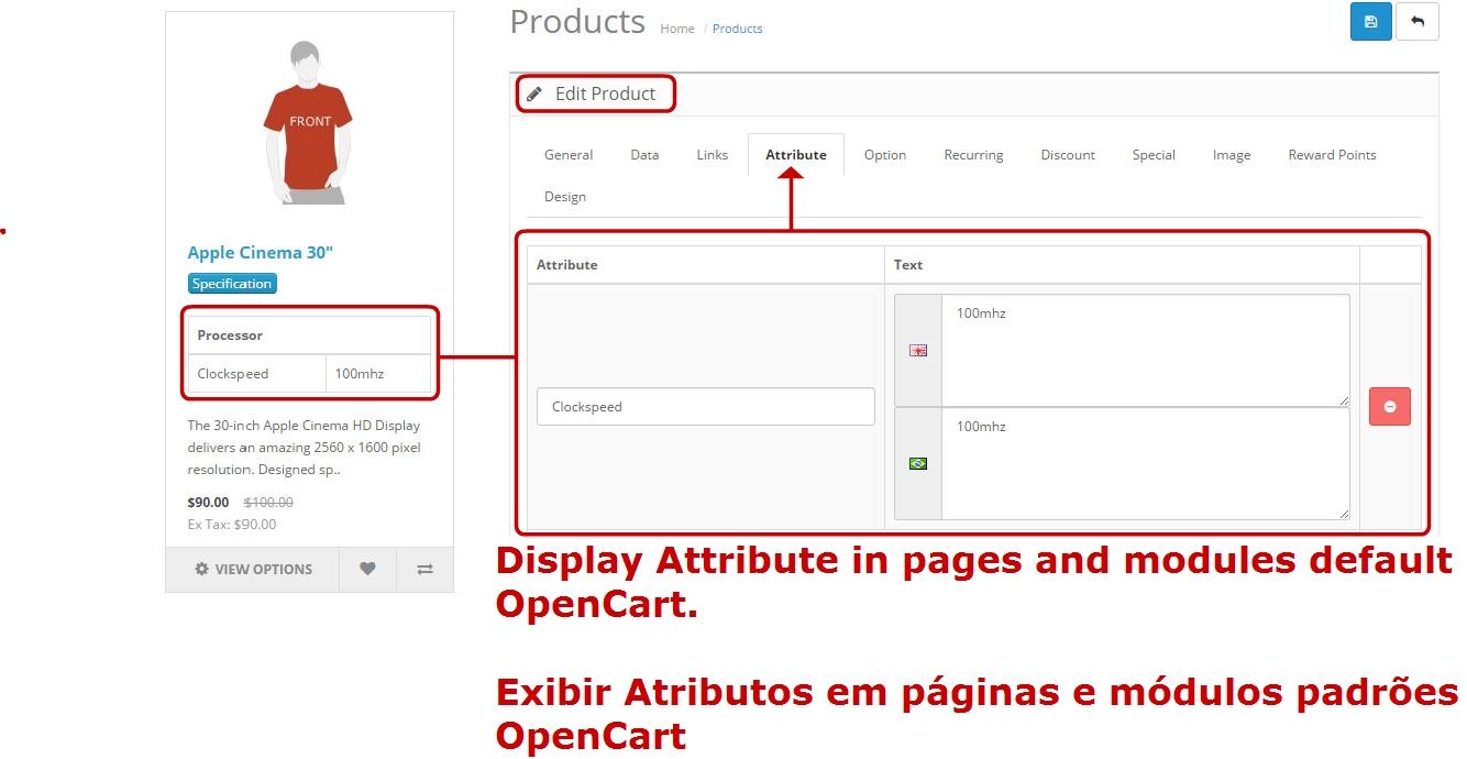 Exibir Especificação (Atributo) nas Páginas e Módulos Padrões - Foto 3