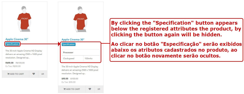 Exibir Especificação (Atributo) nas Páginas e Módulos Padrões - Foto 4