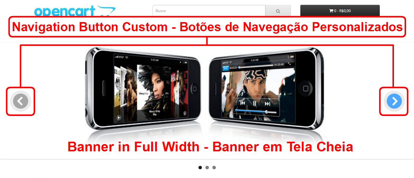 Banner Slideshow e Carrossel em Tela Cheia - Novas Posições  - Foto 3