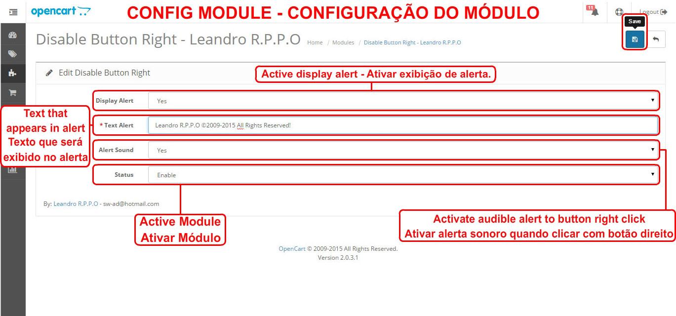 Desativar Botão Direito - Com Alerta Sonoro e Mensagem Customizável - Foto 4
