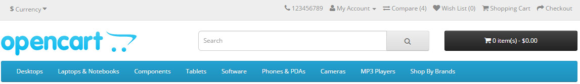 Lista de Comparação no Cabeçalho para Opencart versão 2.X - Foto 1
