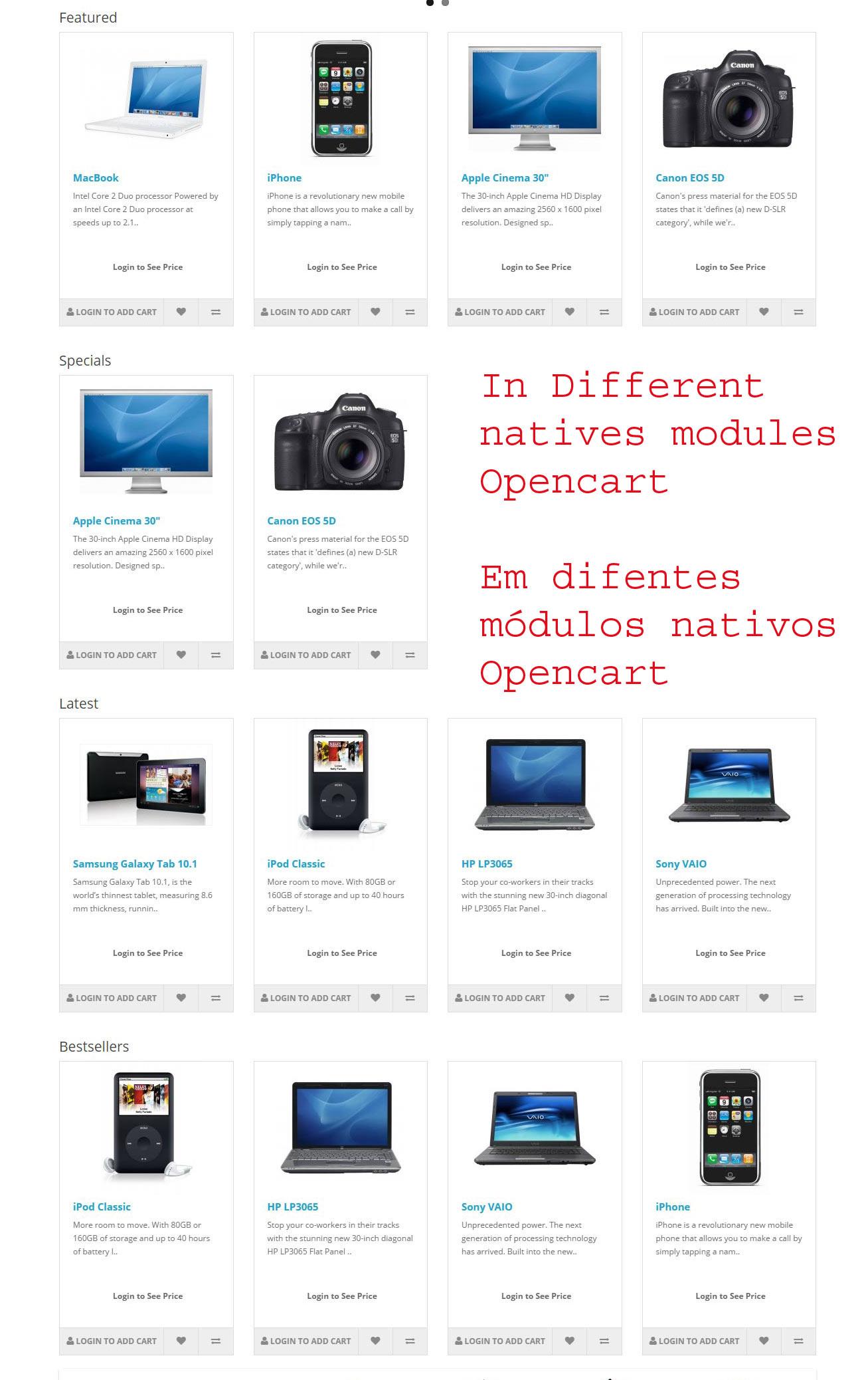 Comprar somente após logar - Opencart versão 2.X - Foto 1