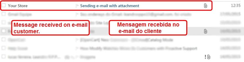 Enviar E-mail com Anexo para o Cliente via Admin para Opencart - Foto 2