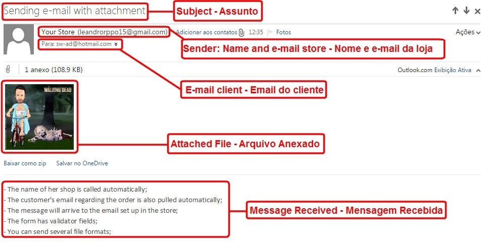 Enviar E-mail com Anexo para o Cliente via Admin para Opencart - Foto 3