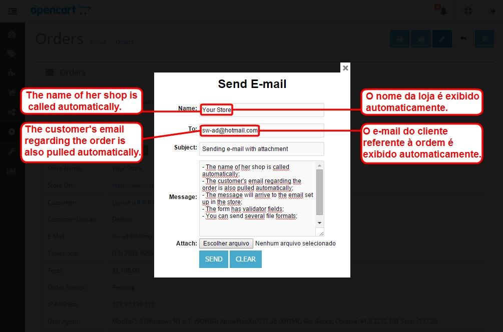 Enviar E-mail com Anexo para o Cliente via Admin para Opencart - Foto 10