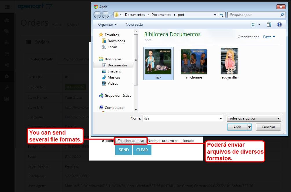 Enviar E-mail com Anexo para o Cliente via Admin para Opencart - Foto 11