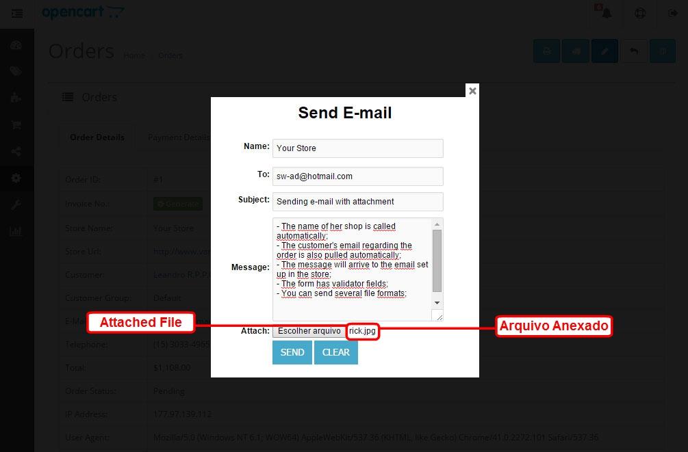 Enviar E-mail com Anexo para o Cliente via Admin para Opencart - Foto 12
