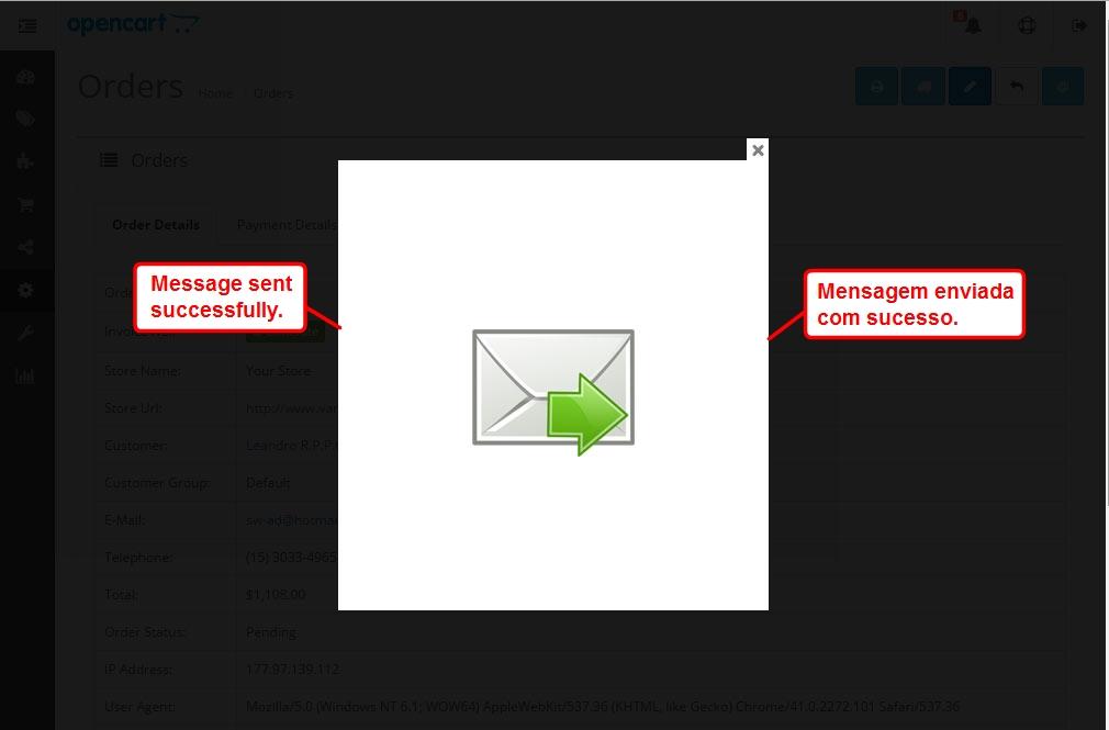 Enviar E-mail com Anexo para o Cliente via Admin para Opencart - Foto 5