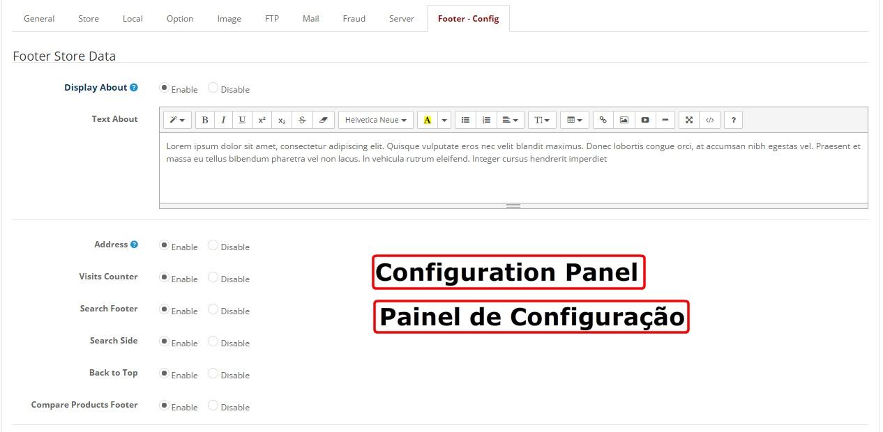 Mega Configuração do Rodapé Profissional - Opencart Versão 2.X - Foto 18