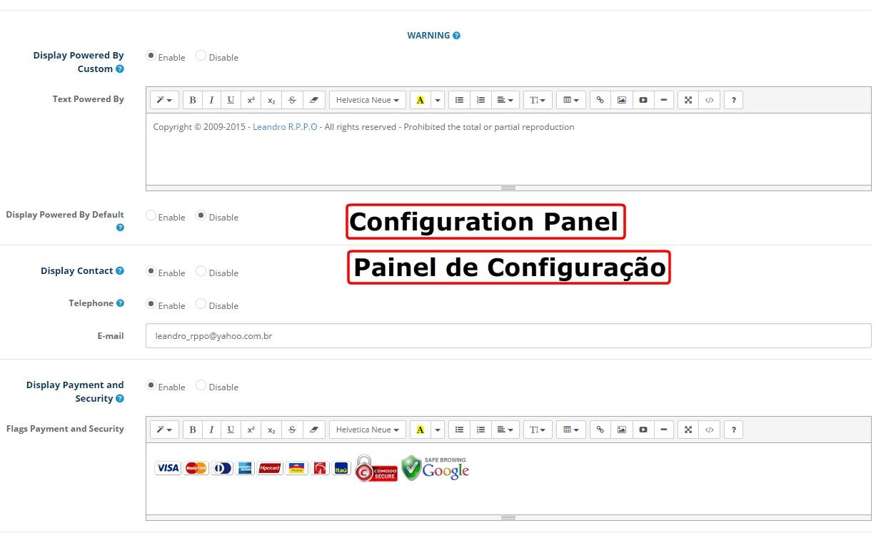 Mega Configuração do Rodapé Profissional - Opencart Versão 2.X - Foto 17