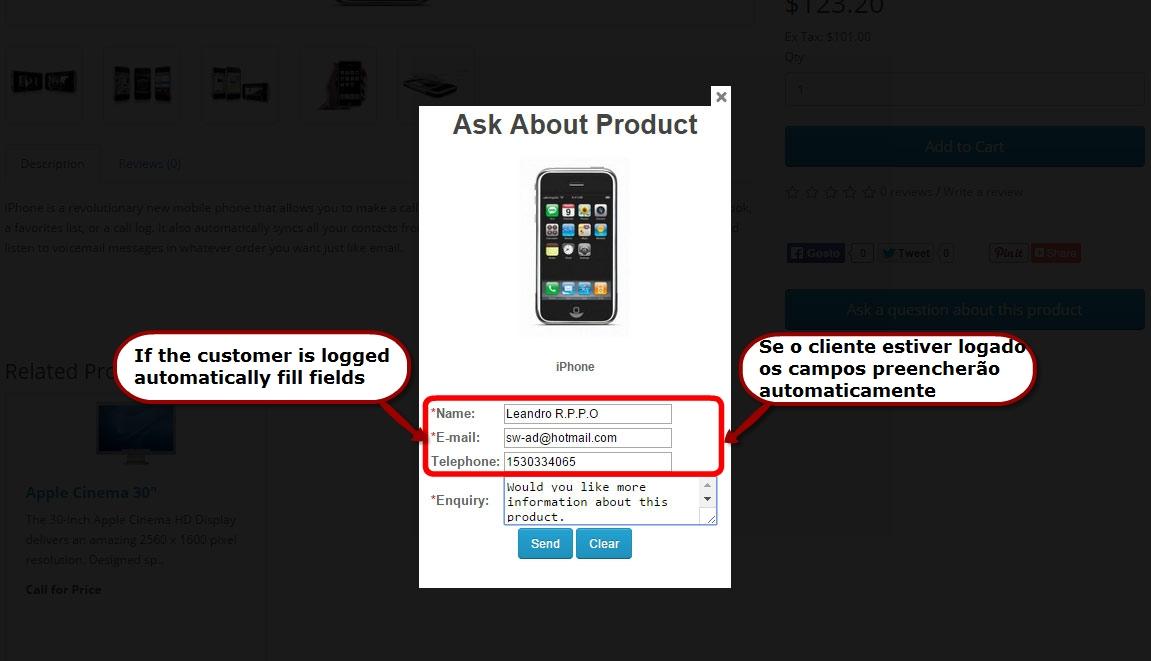 Pergunta sobre o Produto para Opencart - Foto 5