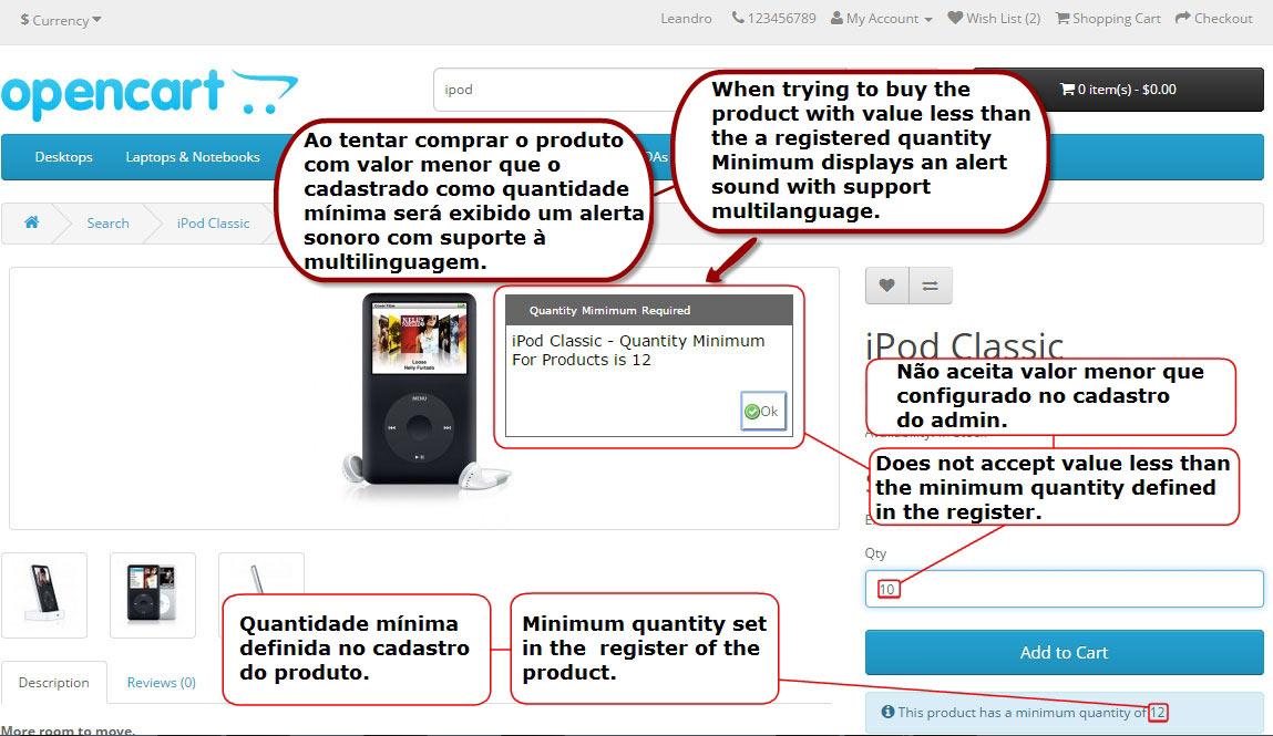 Adicionar Quantidade Mínima ao Comprar - Alerta Sonoro na Validação! - Foto 9