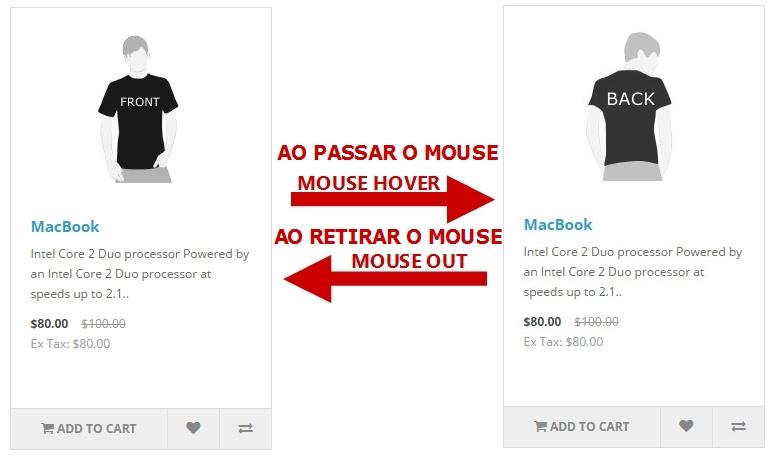 Troca de Imagem - Ao passar o mouse mudará a foto do produto. - Foto 2