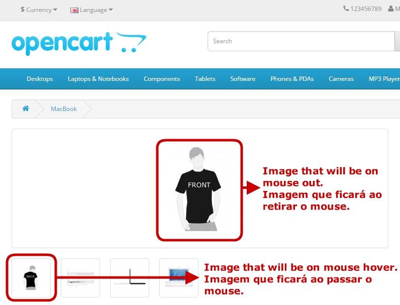 Troca de Imagem - Ao passar o mouse mudará a foto do produto. - Foto 3