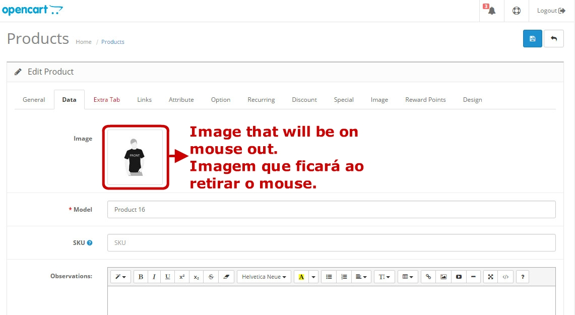 Troca de Imagem - Ao passar o mouse mudará a foto do produto. - Foto 4