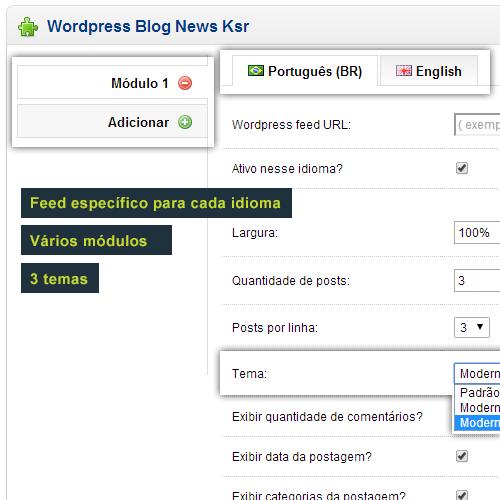 Blog Wordpress e Joomla  News no Opencart - Foto 4