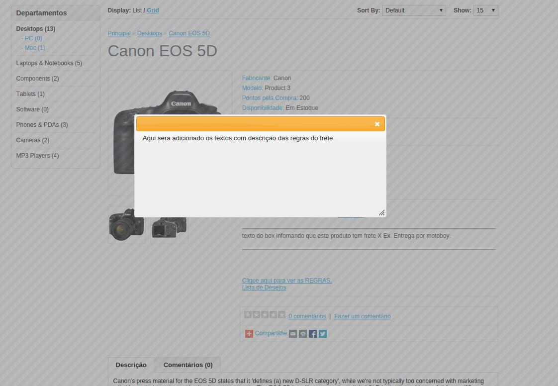 Frete fixo por Faixa de CEP e por Categoria para Opencart - Foto 2