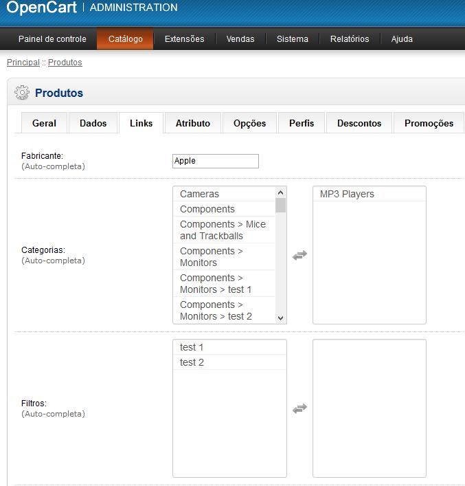 Multiselect - Alternativa ao autocomplete dos Produtos para Opencart - Foto 2