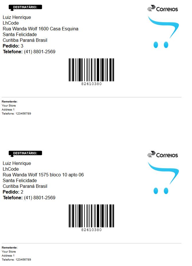 Rastreamento Automático e Etiquetas Correios para Opencart - Foto 21