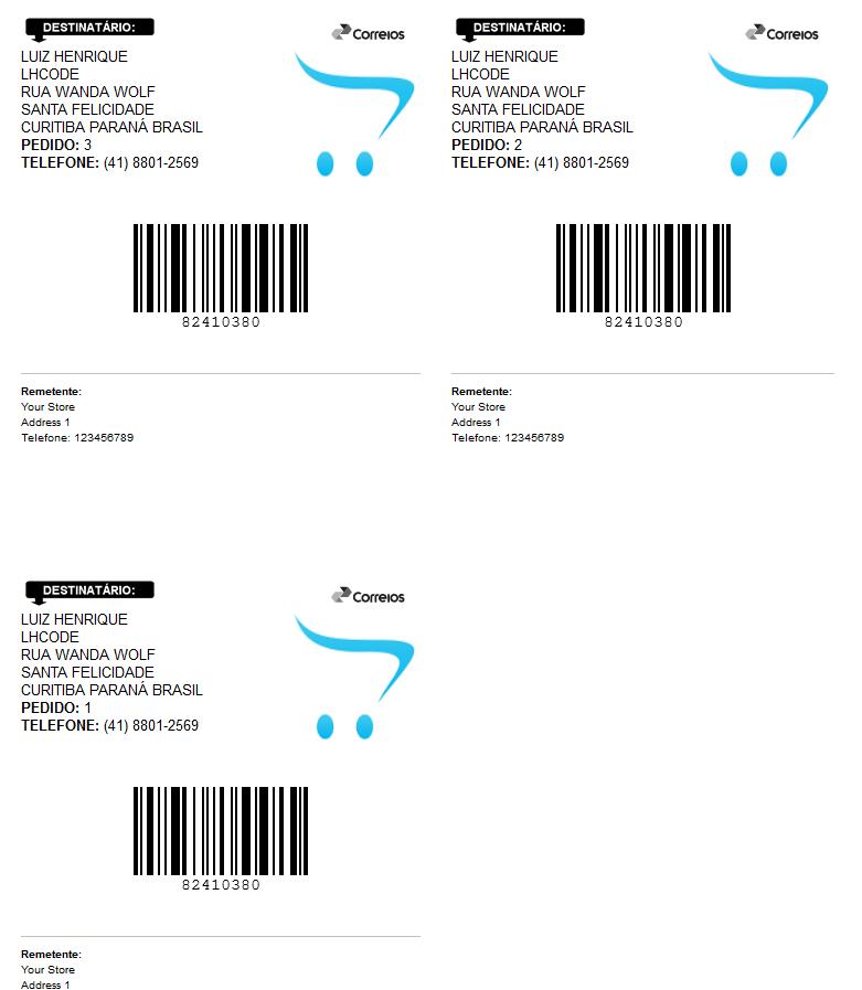 Rastreamento Automático e Etiquetas Correios para Opencart - Foto 13