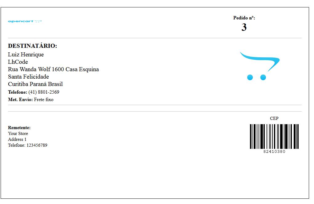 Rastreamento Automático e Etiquetas Correios para Opencart - Foto 18