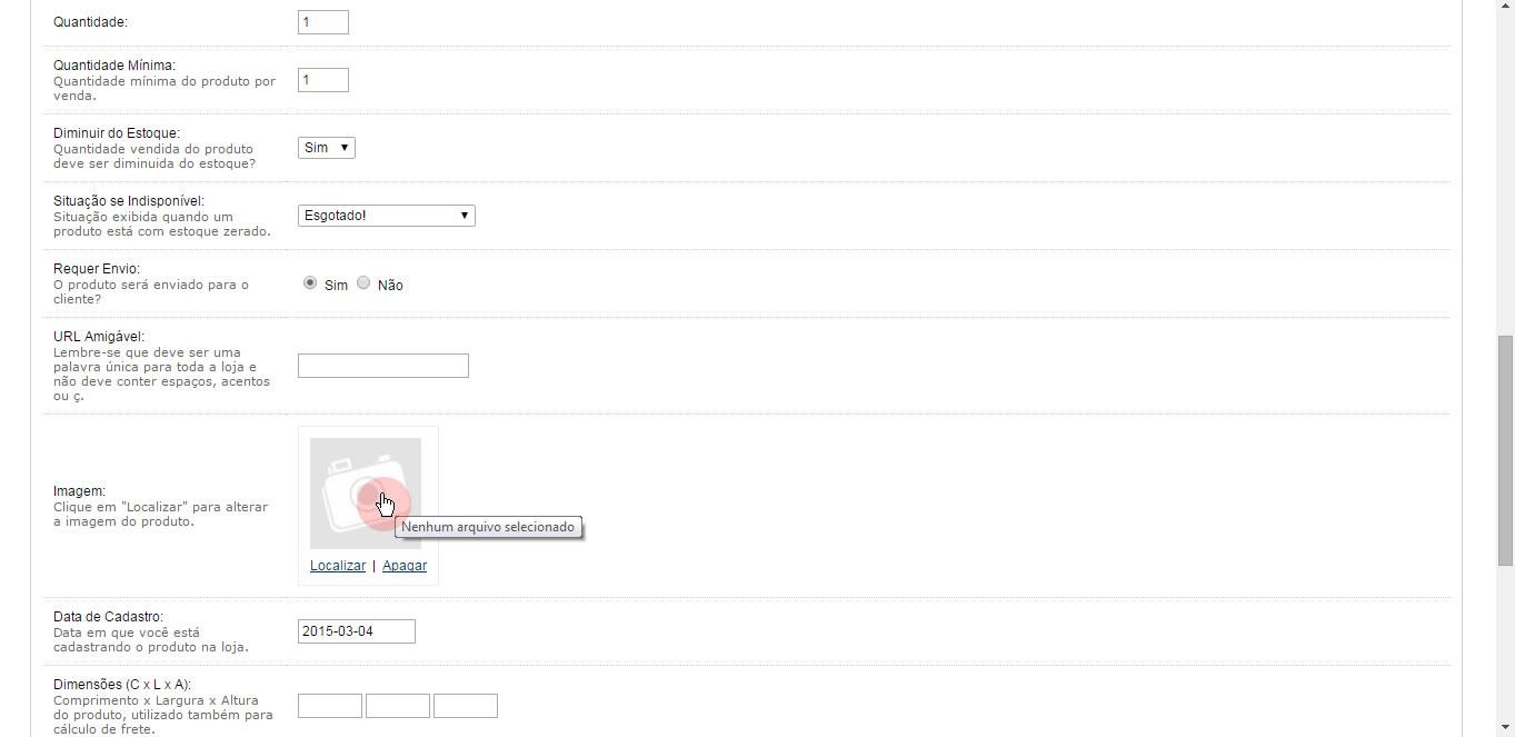 Upload de imagem com 1 clique vQmod para Opencart - Foto 3