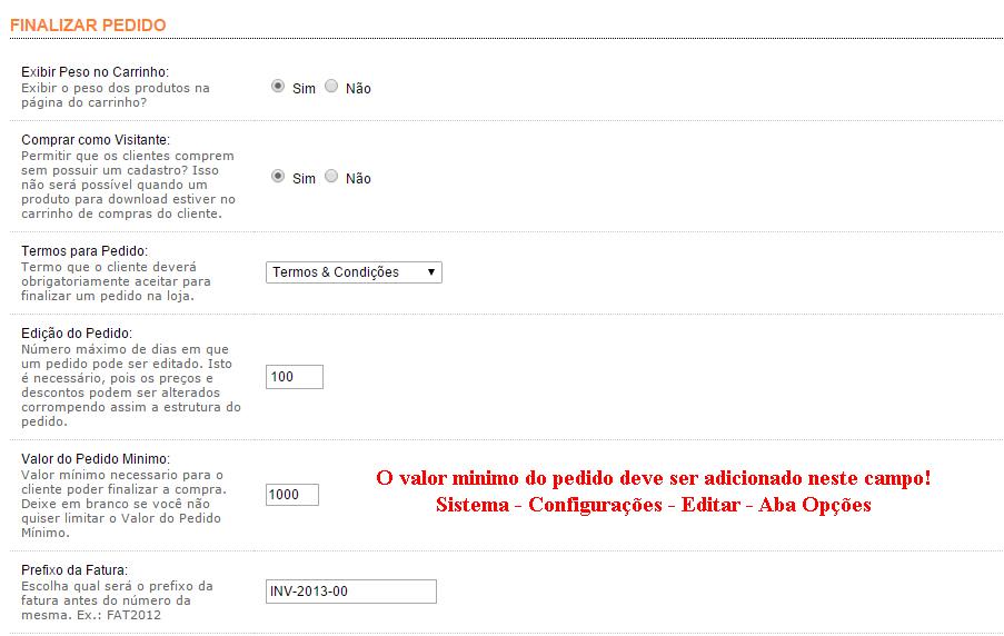 Pedido com valor Mínimo - vQmod para Opencart - Foto 2