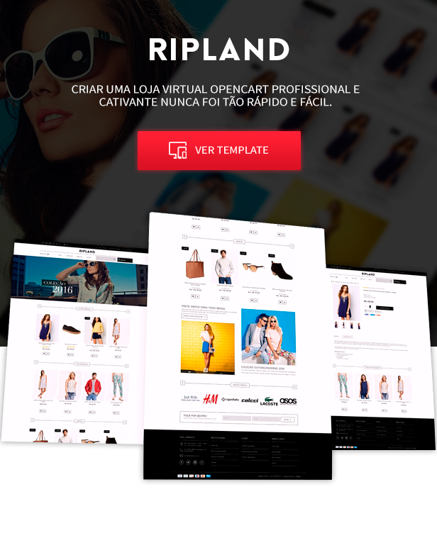 Template opencart Ripland optimizado para mobile
