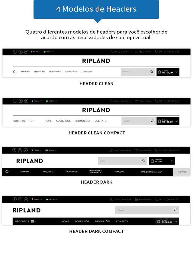 4 modelos de headers diferenciados