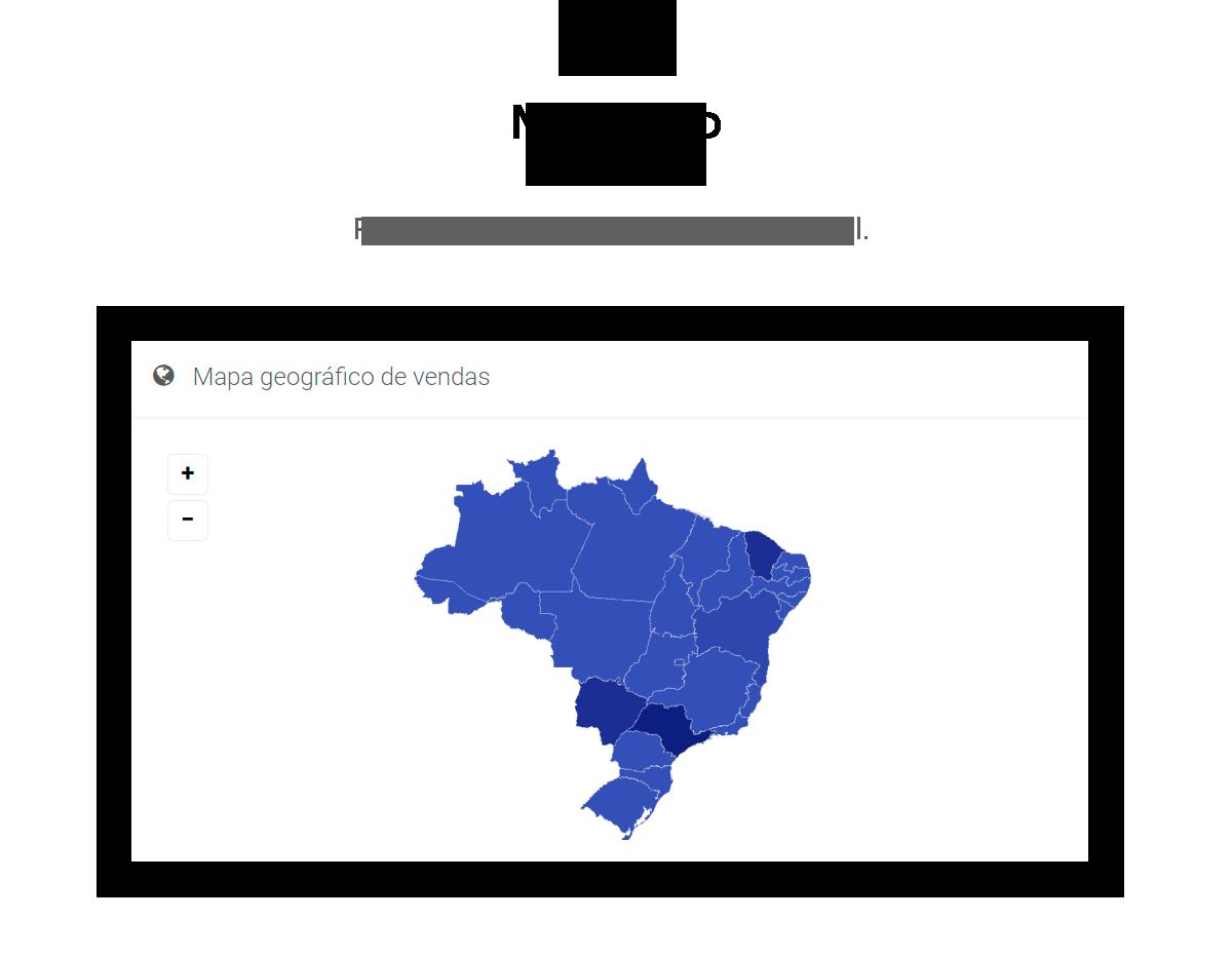 Mapa do Brasil para vendas