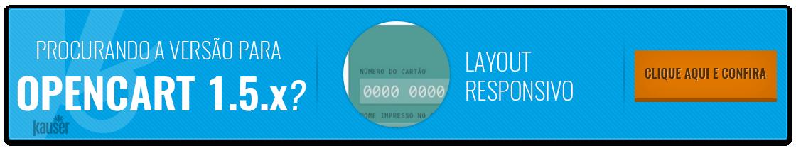 Pagamento Transparente Pagseguro para Opencart 1.5.x